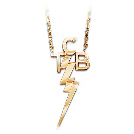 TCB 18K Gold-Plated Necklace Inspired By An Elvis Original