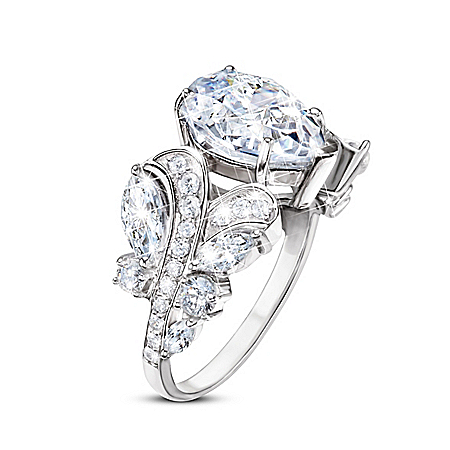 Girls Of Great Britain 10-Carat Diamonesk Ring