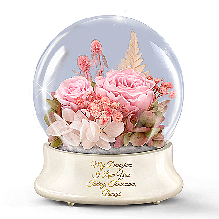 Rotating Illuminated Musical Floral Centerpiece For Daughter
