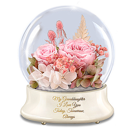 Rotating Lighted Musical Rose Centerpiece For Granddaughter