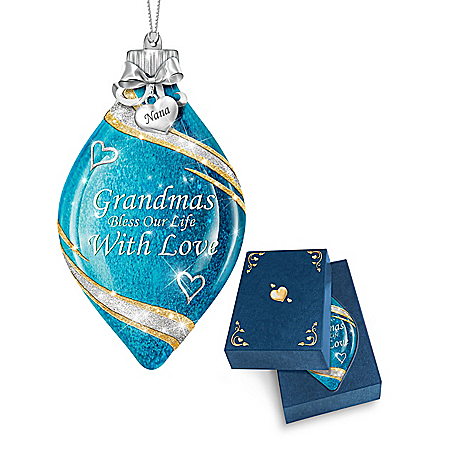 Illuminated Glass Ornament Personalized For Grandmother