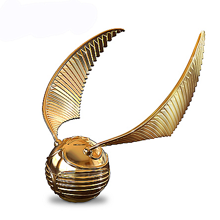 HARRY POTTER Golden Snitch Music Box Opens To Reveal Horcrux