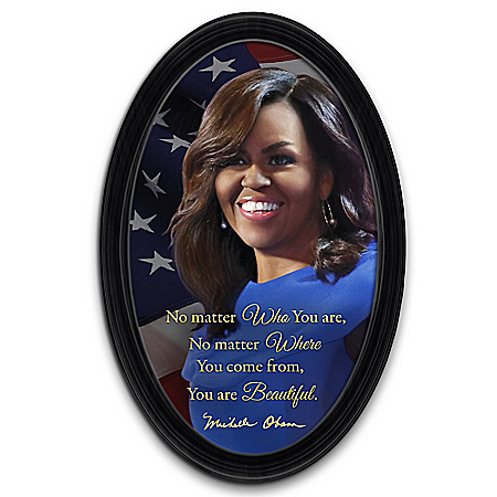 Michelle Obama You Are Beautiful Collector Plate With Quote