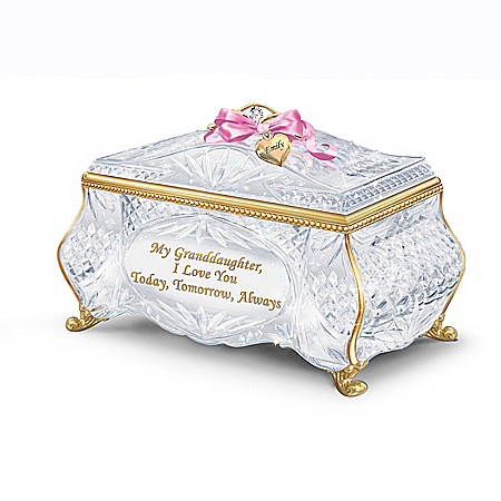 Facets Of Love Personalized Music Box For Granddaughter