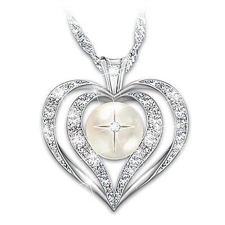 Wisdom Of Faith Topaz And Diamond Pendant Necklace