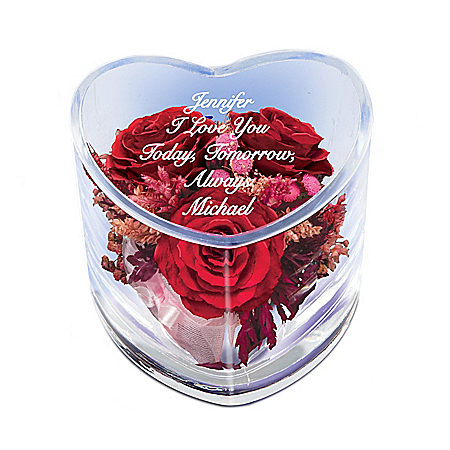 True Love Is Forever Personalized Floral Table Centerpiece