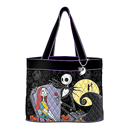 The Nightmare Before Christmas Tote Bag With Zero Charm