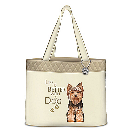 Life Is Better With A Dog Tote Bag: Choose Your Breed