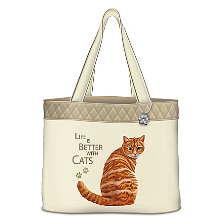 Life Is Better With Cats Tote Bag: Choose Your Breed