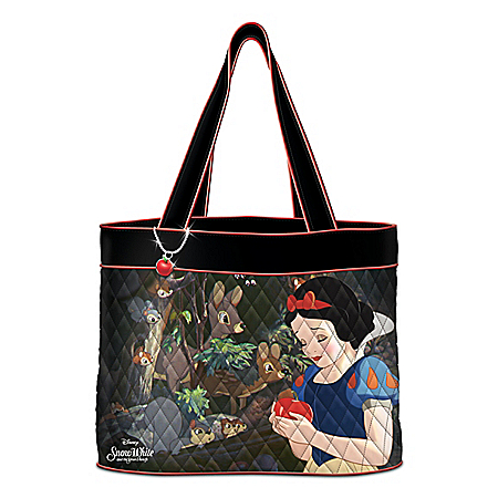 Disney Snow White Quilted Tote Bag With Apple Charm