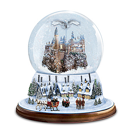 I'd Rather Stay At HOGWARTS Rotating Musical Glitter Globe