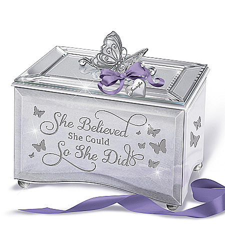 """""""Strong Women"""" Music Box With Personalized Charm"""
