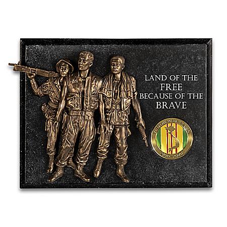 Sculptural Brotherhood Wall Decor Honors Vietnam Veterans