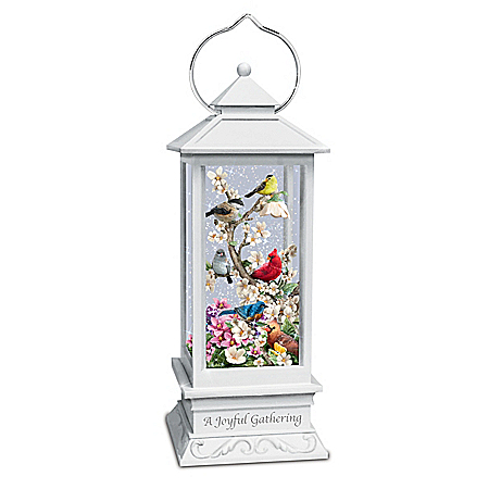 Songbird Lantern With Lights And Ever-Swirling Glitter