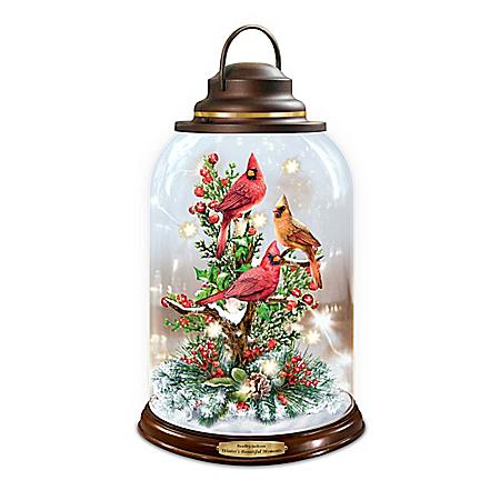 Bradley Jackson Illuminated Lantern With Cardinal Sounds