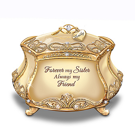 Forever My Sister Music Box With Personalized Name Charm