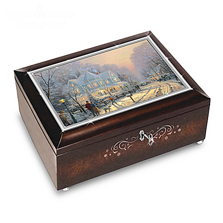 Thomas Kinkade A Holiday Gathering Christmas Music Box