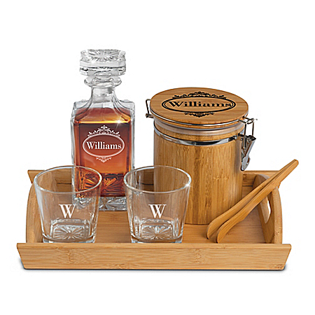 Personalized 6-Piece Barware Set With Name And Initial