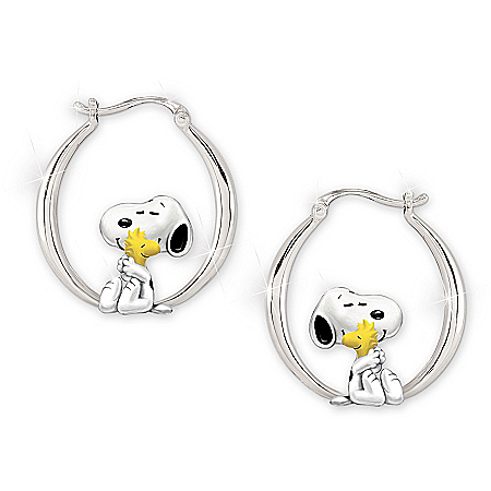 PEANUTS Friends Forever Hoop Earrings