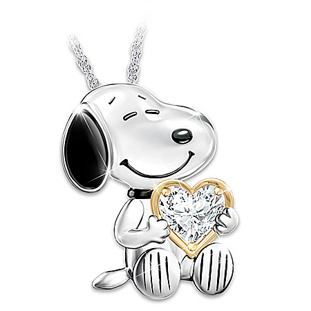Platinum-Plated Snoopy Forever Pendant Necklace