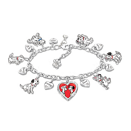 Disney 101 Dalmatians Bracelet With 14 Individual Charms