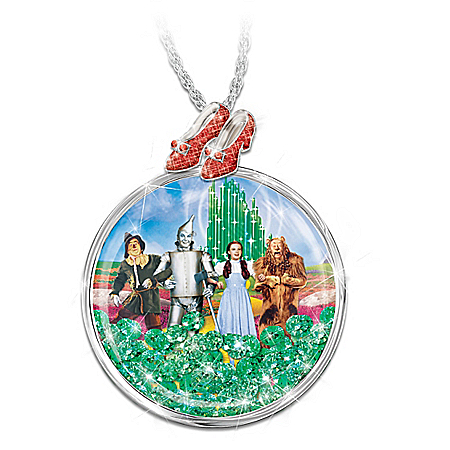 THE WIZARD OF OZ Women's Floating Crystal Pendant Necklace