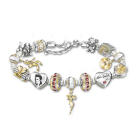 Legend Of Elvis Charm Bracelet With Swarovski Crystals
