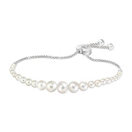 Daughter Pearls Of Wisdom Personalized Diamond Bolo Bracelet With Custom Keepsake Box – Personalized Jewelry