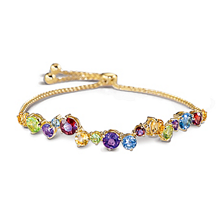 Colors Of Beauty Bracelet With Over 5 Carats of Gemstones