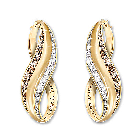 The Perfect Blend Mocha & White Diamond Earrings