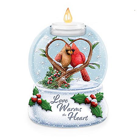 Love Warms The Heart Illuminated Holiday Water Globe