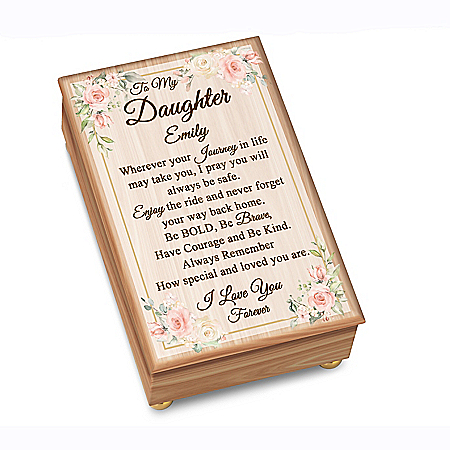 To My Daughter Personalized Wooden Music Box