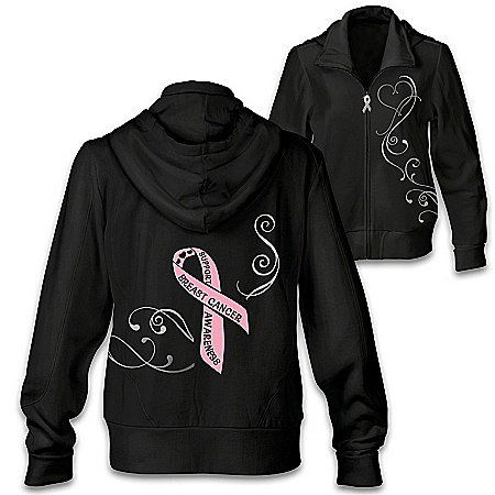 Ribbon Of Support Women's Hoodie: Choose Your Charity Cause