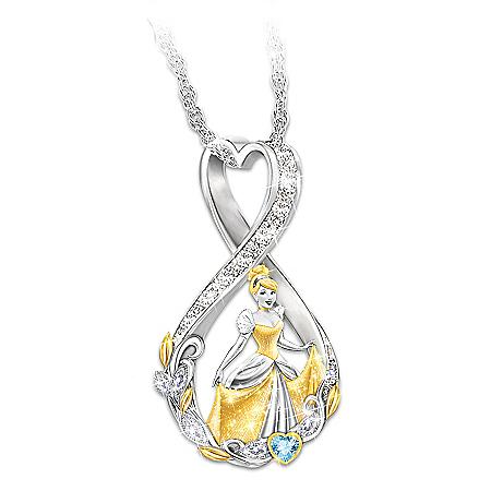 Forever Cinderella Infinity Necklace With Swarovski Crystals