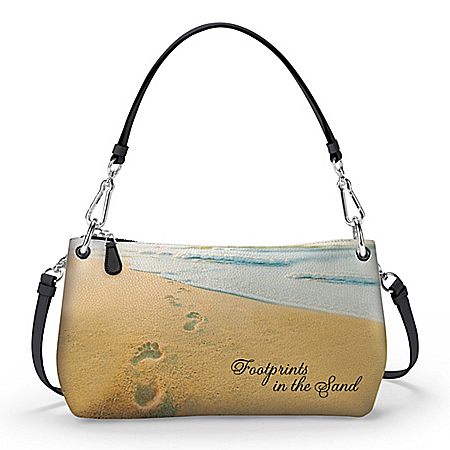 Footprints In The Sand Convertible Handbag: Wear It 3 Ways