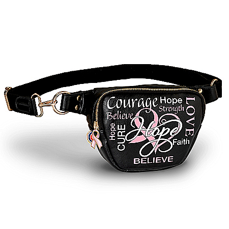 Hope And Courage Breast Cancer Awareness Belt Bag