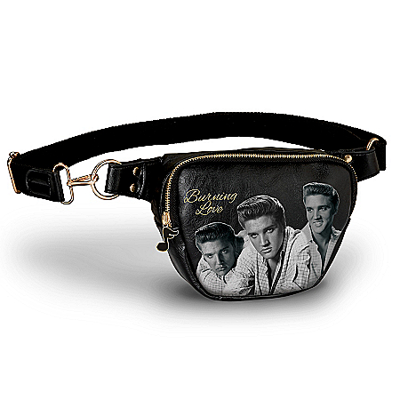 Elvis Presley Burning Love Belt Bag With Music Note Charm