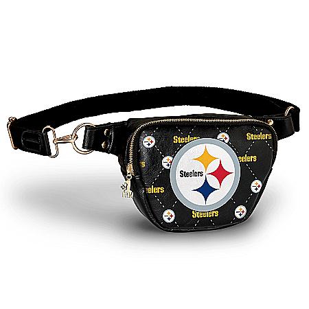 Steelers Belt Bag With #1 Fan Charm & Adjustable Strap