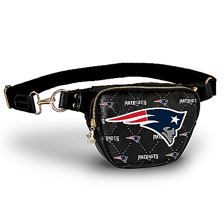 Patriots Belt Bag With #1 Fan Charm & Adjustable Strap