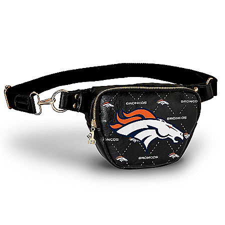 Broncos Belt Bag With #1 Fan Charm & Adjustable Strap
