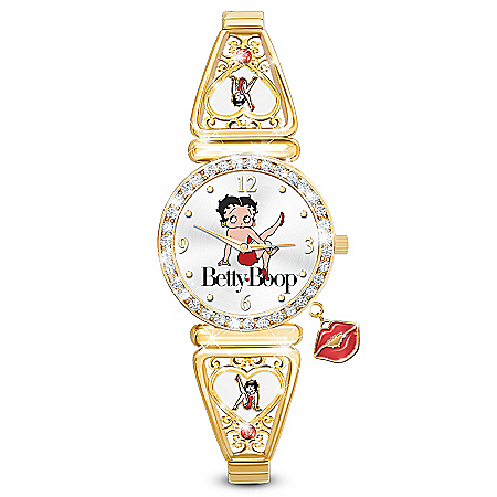 Betty Boop Kick Up Your Heels Watch With Over 40 Crystals