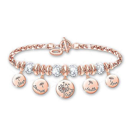 Nature's Healing Wishes Copper Charm Bracelet
