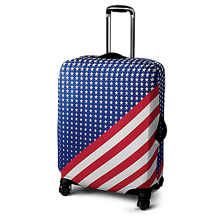 Patriotic Pride Stretchable Easy-Care Suitcase Cover