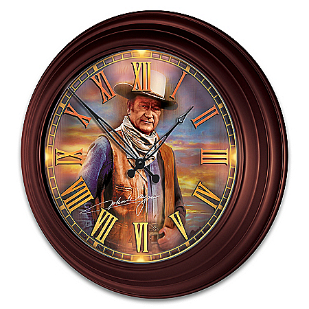 John Wayne Indoor/Outdoor Illuminated Atomic Wall Clock