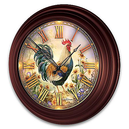 Dona Gelsinger Indoor/Outdoor Illuminated Atomic Wall Clock