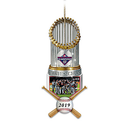 2019 MLB World Series Champions Washington Nationals Trophy Ornament