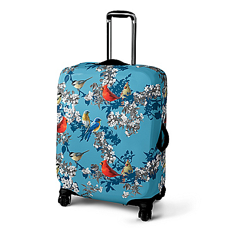 James Hautman Songbird Stretchable Easy-Care Suitcase Cover