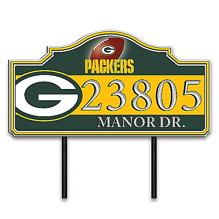 Green Bay Packers Personalized Outdoor Address Sign