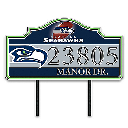 Seattle Seahawks Personalized Outdoor Address Sign