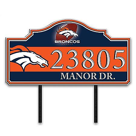 Denver Broncos Personalized Outdoor Address Sign